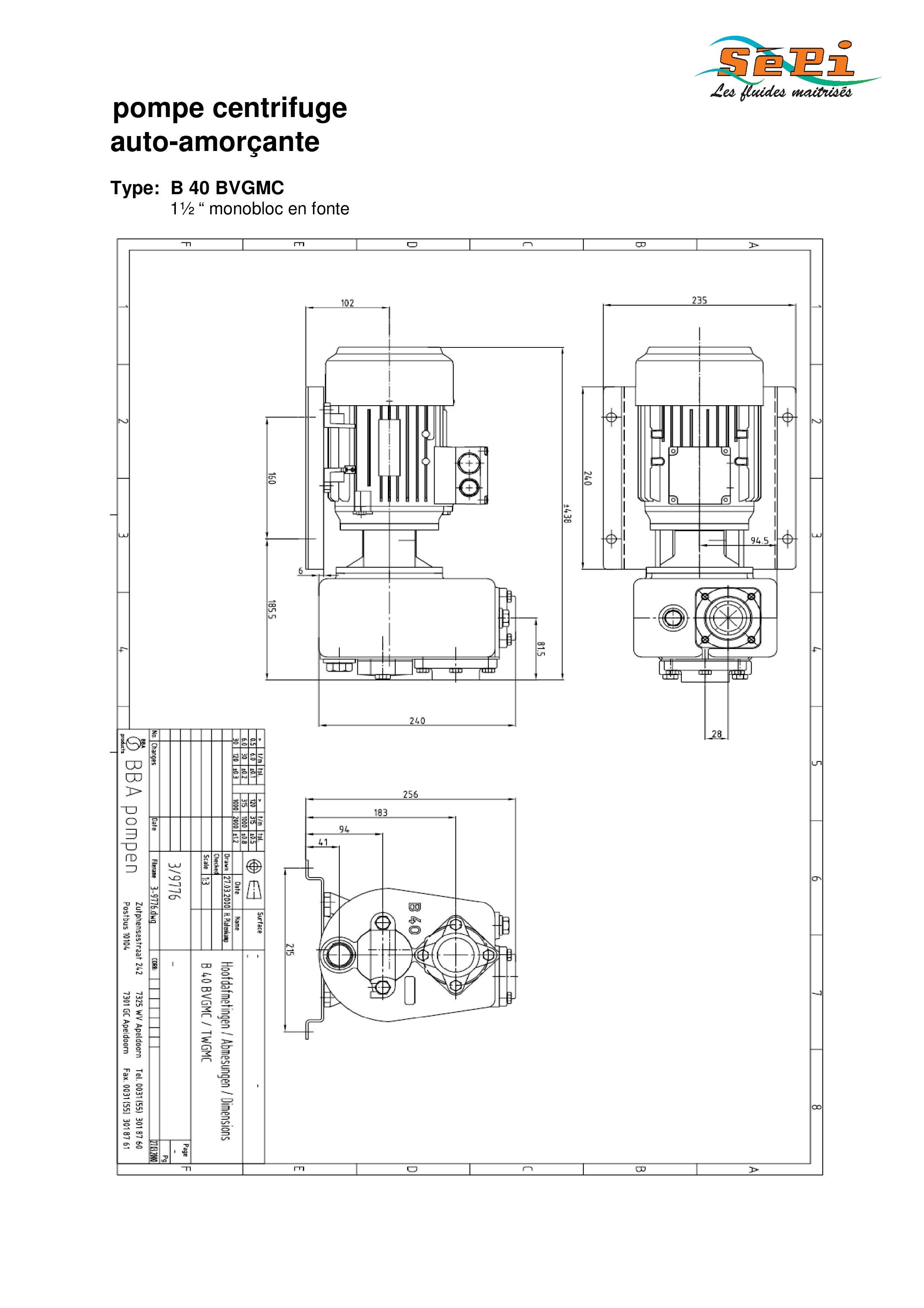 pompe auto amor ante b40 bvgmc. Black Bedroom Furniture Sets. Home Design Ideas